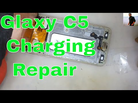 How to replace the fixed charging port on a Samsung Galaxy C5