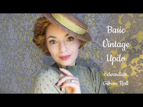 Basic Vintage Hairstyle / Easy Edwardian Updo