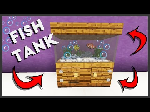 Minecraft - How To Make A Fish Tank 🐠