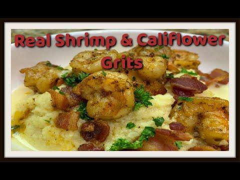 Shrimp & Cauliflower Grits