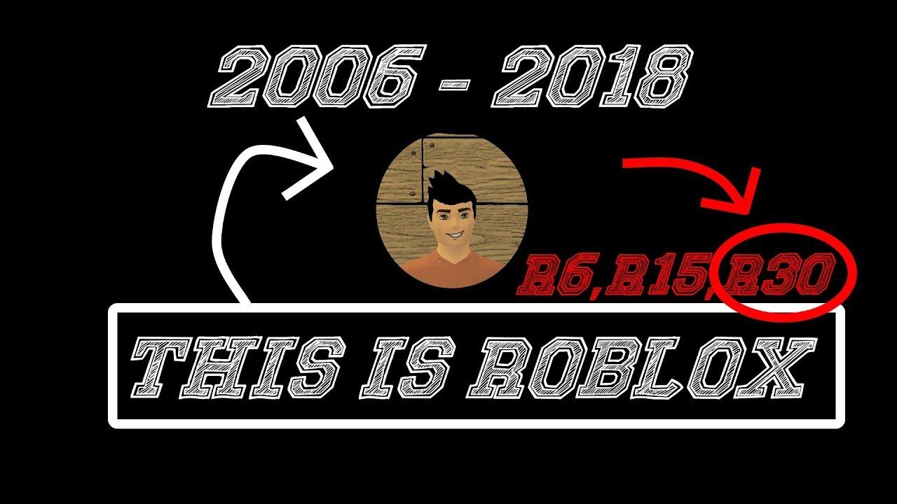 Roblox 2006 2018 Roblox 2006 2018 R6 R15 R30 Youtube