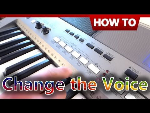 How to Change the Voice on a Yamaha Keyboard