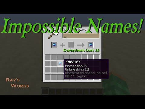 How to give items IMPOSSIBLE NAMES! 1 12-1 8+ Vanilla Survival Minecraft |  Ray's Works
