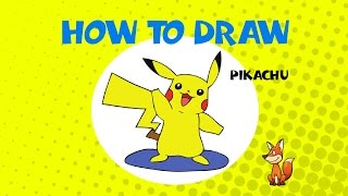 How to draw Pikachu of Pokemon - STEP BY STEP GUIDE - DRAWING TUTORIAL GUIDE