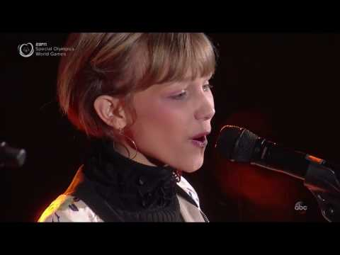 Grace VanderWaal at Special Olympics Austria Opening Ceremony March 18 2017