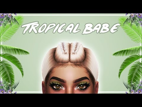 🌴 The Sims 4: CAS & Speed Edit // TROPICAL BABE + Full CC List  🌴