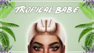 🌴 The Sims 4: CAS & Speed Edit // TROPICAL BABE + Full CC List  🌴