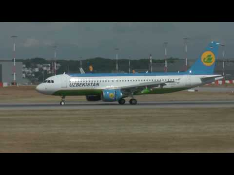 Uzbekistan Airways takeoff and landing