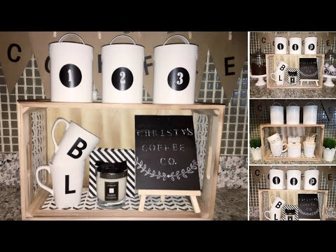 Diy Kitchen Decor Coffee Station Dollar Tree Spot Rustic Farmhouse 2017
