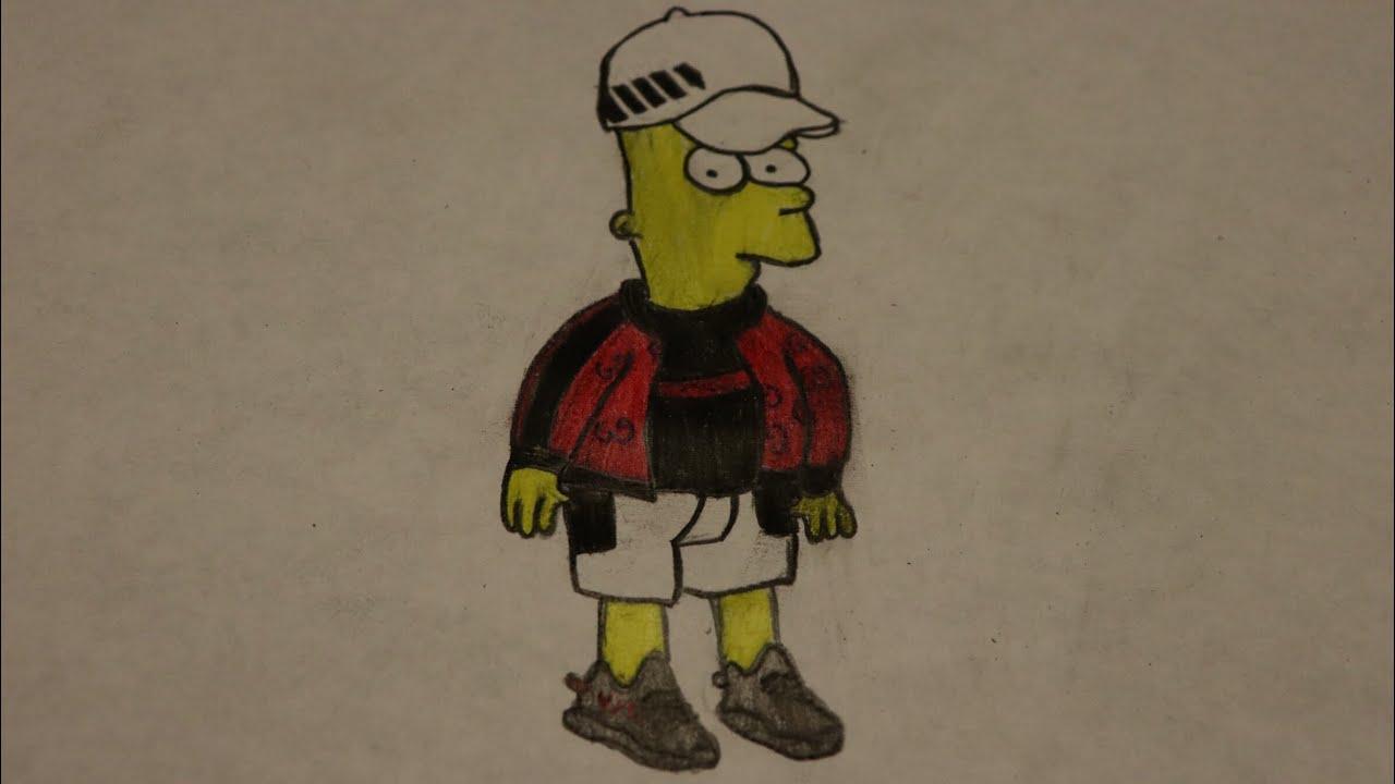 Hypebeast Bart Simpson Drawing Timelapse Youtube