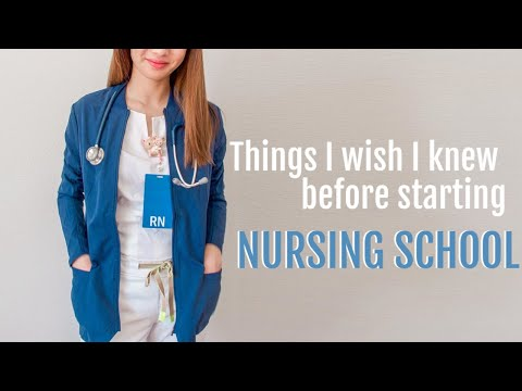Things I wish I knew before starting nursing school