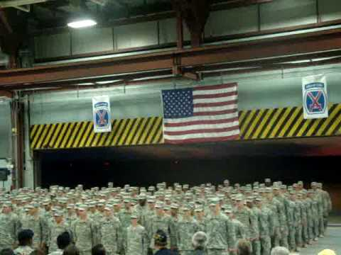10th mtn song and dismissal COMING HOME CEREMONY