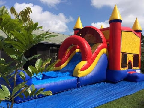 Deliver 4 bounce house combos
