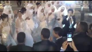 محمد صلاح يحيي حفل زفاف جماعي بالمنيا..فيديو