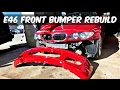 Project: BMW E46 330ci ZHP Front BUMPER REBUILD and PAINT