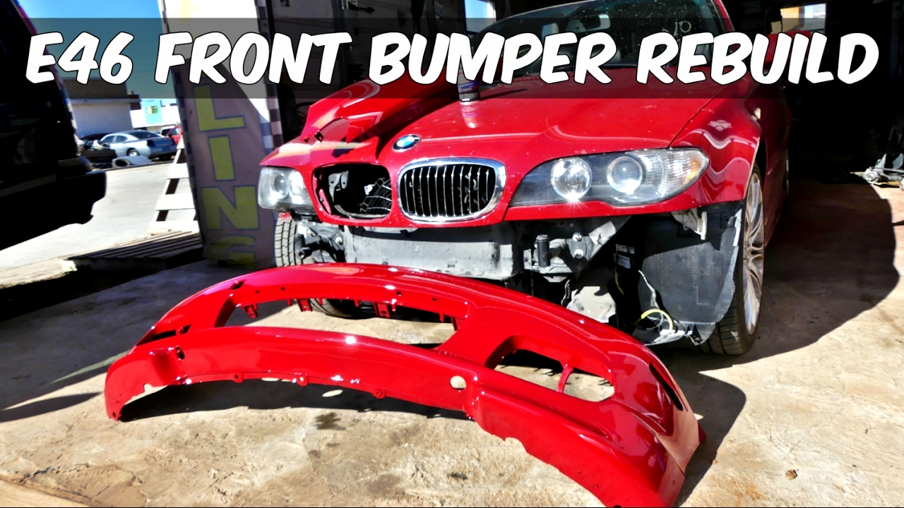 Project Bmw E46 330ci Zhp Front Bumper Rebuild And Paint
