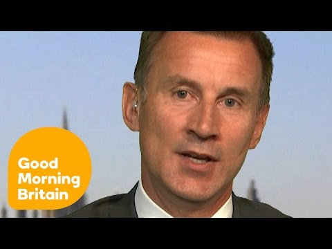 Jeremy Hunt Responds To Brexit Bus NHS Claim | Good Morning Britain