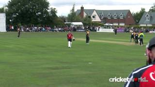 Weird And Unusual Cricket Dismissal - Flintoff Bat-Pad Catch...At Deep Square!