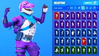 *NEW* Fortnite Bronto Skin Showcase with All Dances & Emotes Season 10 Outfit