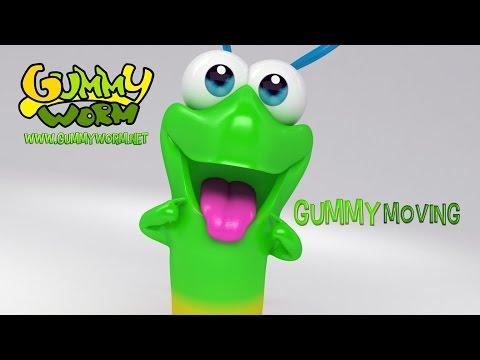 Gummy Worm - Gummy Moving - Gummy Worm Song English version (Official video)