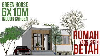 Tiny House Design 6x10m With Interior Decoration, Include Indoor Garden
