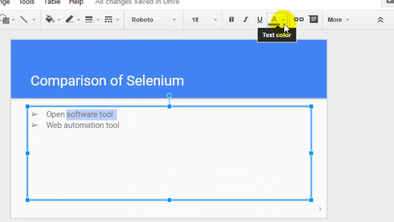 How to color in google docs - How To Change Text Color In Google Slides