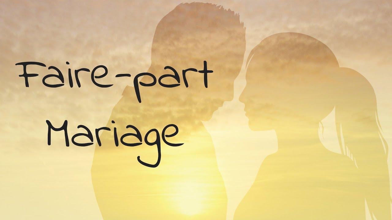 Faire-part mariage vidéo - invitation mariage animée - 2020-B