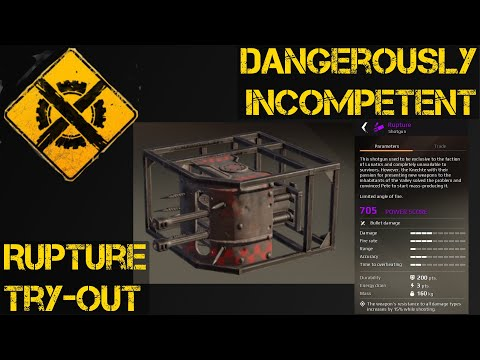 Trying out the Knight Riders' Rupture in Crossout with Dangerously Incompetent