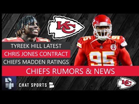 super popular ed714 eb7e0 Chiefs Rumors: Tyreek Hill Looming Suspension, Chris Jones Contract &  Patrick Mahomes Madden Rating