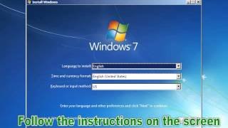 install or repair windows 7 with USB installer tool