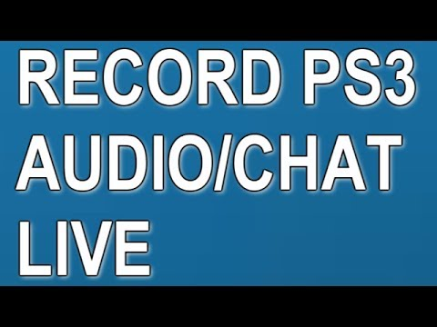 How To Record PS3 Voice Chat Headset Audio Voices HD PVR