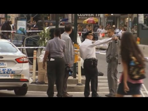 Meat cleaver attack in New York rush hour
