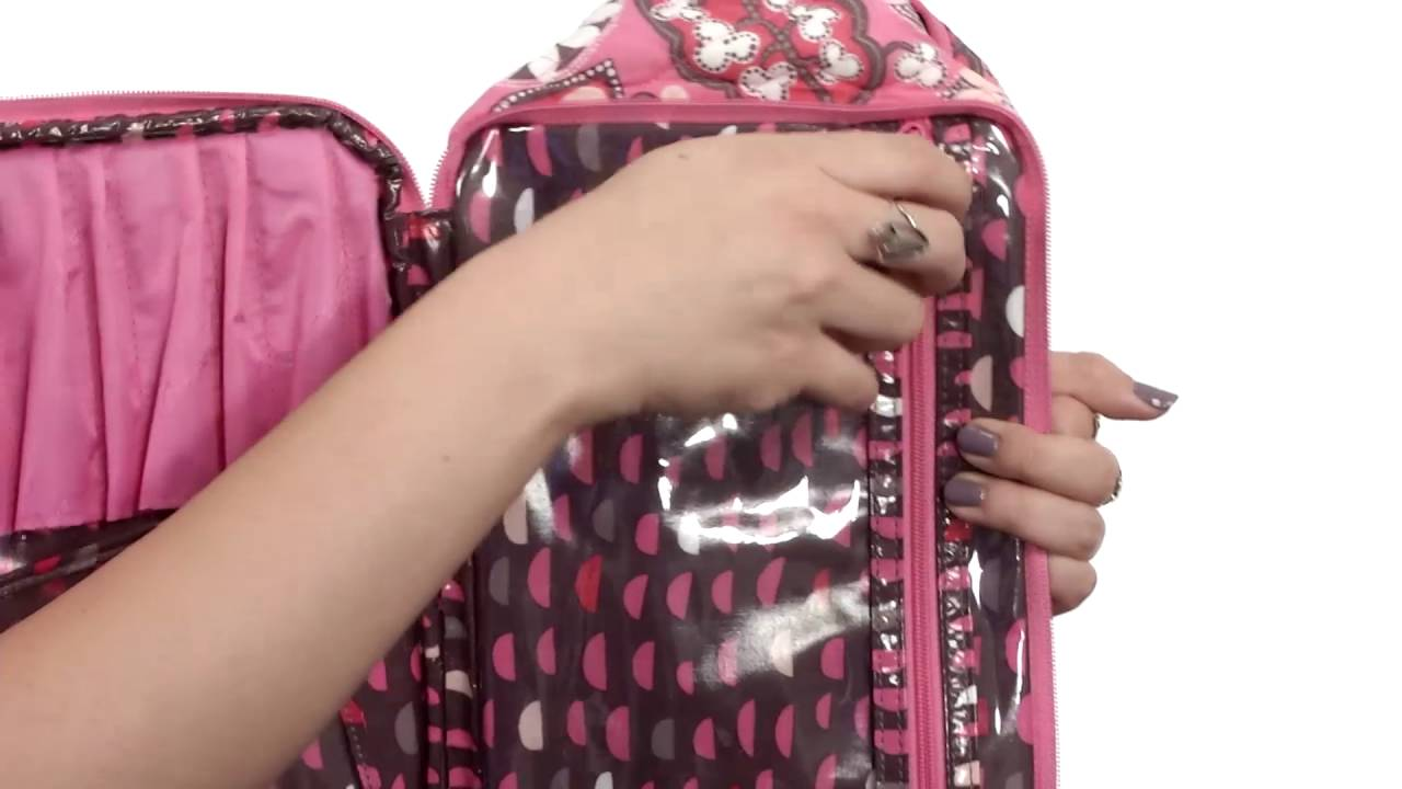 5d4ca59b5751 Vera Bradley Luggage Large Blush   Brush Makeup Case SKU 8688277 ...