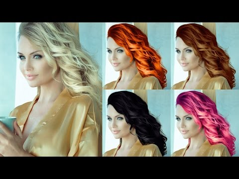 How To Change Hair Color (Blonde To Other Colors) Photoshop Tutorial