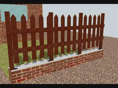 Como hacer un cerco valla verja de madera youtube for Madera para jardin