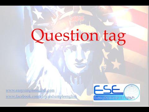 """Easy&Simple English , ESE """"Question Tag แบบฝึกหัด"""" เรียนภาษาอังกฤษออนไลน์ฟรี"""