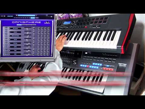 Descent into darkness, cover played on Tyros5, Novation Impulse