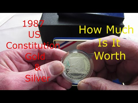 1987 US Constitution Commemorative Gold & Silver Proof Set