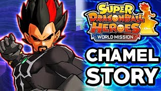 DARK KING VEGETA STORY! Dragon Ball Heroes: World Mission English - Chamel's Adventure Story Mode