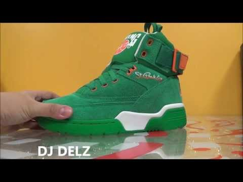Ewing 33 HI St Patty's Shoe Detailed Review With Dj Delz @djdELZ The Sneaker Addict St Patricks