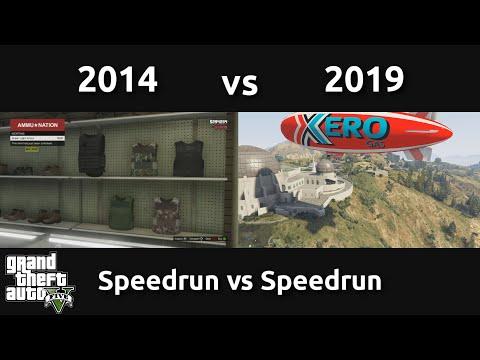 Speedrun VS Speedrun In GTAV (2014 Vs 2019)