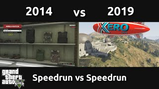 Speedrun VS Speedrun in GTAV (2014 vs 2019)