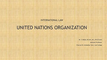 United Nations Organisation - History of UN - Principal Organs