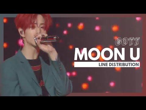 GOT7 - Moon U | Line Distribution