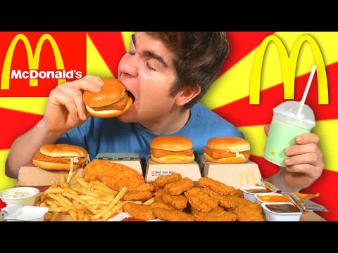 MCDONALDS McMUKBANG FEAST! • FILET-O-FISH FRIDAY, 20pc Chicken Nuggets, McChicken, & More!