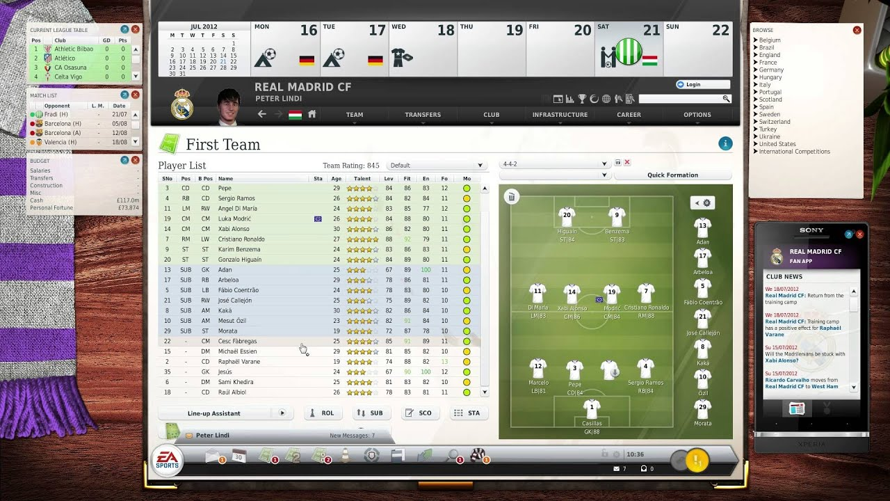 Fifa Manager 13 First Steps Hd Gameplay