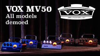 Vox MV50 Clean, AC30, Boutique, Rock and High Gain Compared through BC112 Cabinet (No Talking)