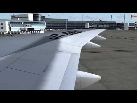 B747-400 羽田空港22:00発 伊丹空港行き【Live simulation】Tokyo Int'l to Osaka Int'l