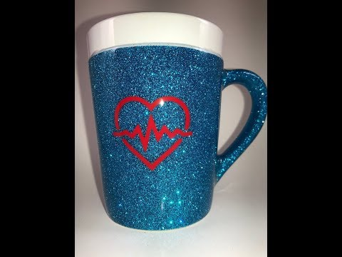 How to Epoxy a Plastic Tumbler Cup and add Glitter - YouTube