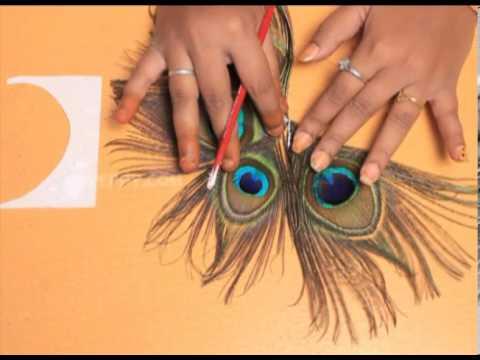 how to make a peacock feather hair pin youtube. Black Bedroom Furniture Sets. Home Design Ideas